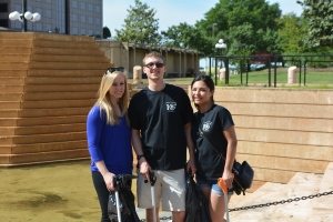 Emily Howell, Aubrey Chamberlayne and Nan Pena of Capital Ale House at Kanawha Plaza