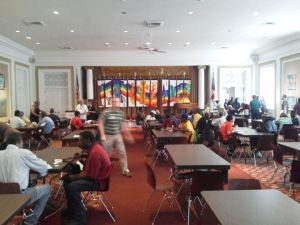 Point-in-Time homeless people survey at St. Paul's Church, July 24, 2014