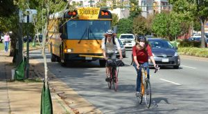 Cyclists on Belvidere in Richmond