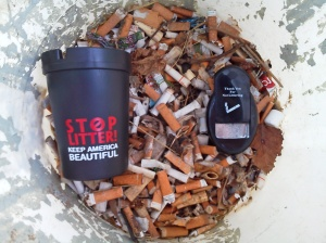 Cigarette butts gathered at Belle Isle