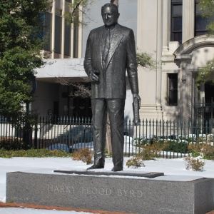 Harry F. Byrd statue at the Virginia Capitol Square