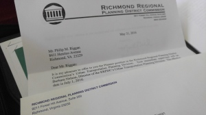 My new job with the Richmond Regional Planning District Commission