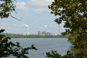 Dominion power plant next to Dutch Gap Conservation Area