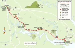 Virginia Capital Trail map [Rails to Trails]