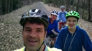 Riggan family visit to the Virginia Creeper Trail, spring 2018.
